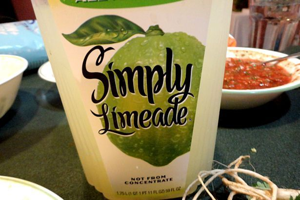 margs made with  Simply Limeade.