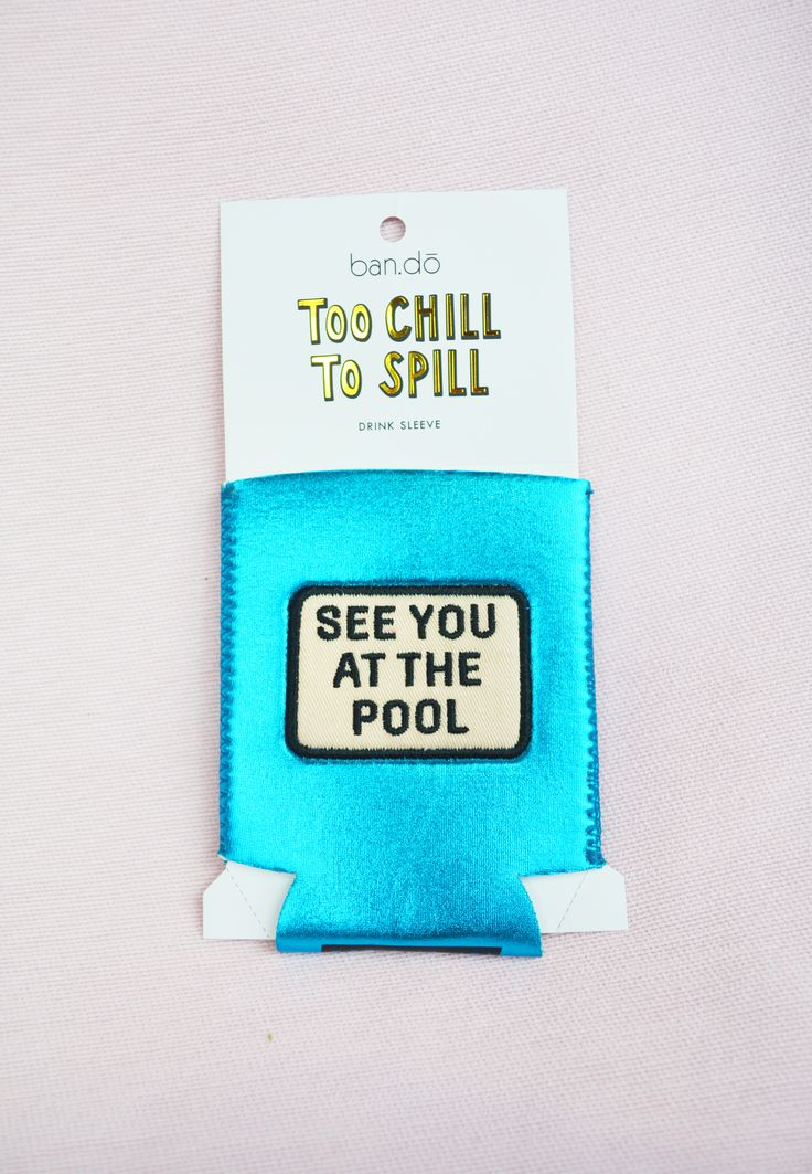 see you at the pool drink sleeve