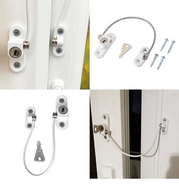 Stainless Steel Security Window and Door Restrictor for Kids and Child Safety