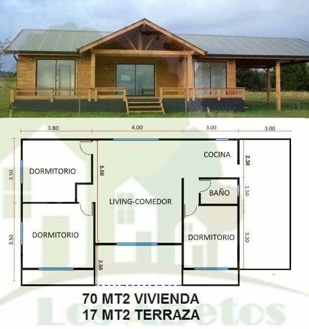 47 best PLANOS ALE images on Pinterest Cottage, Small houses and Homes - plan maison plain pied 80m2