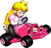 Peach in her kart , looking a little shocked from the official artwork set for #MarioKart64 on the #N64. #MarioKart #Mario #Nintendo64. Visit for more info http://www.superluigibros.com/mario-kart-64