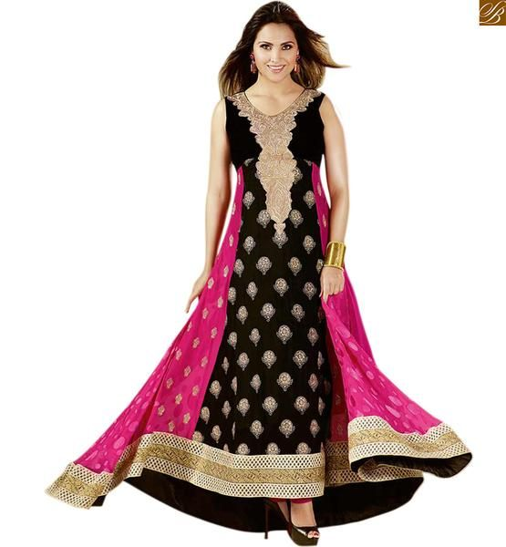 LARA DUTTA DESIGNER ANARKALI SALWAR SUIT ONLINE SHOPPING OTLD606 – Stylish Bazaar