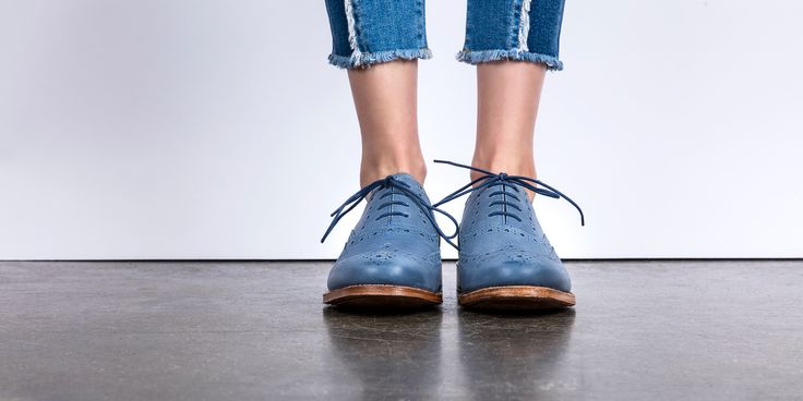 Rose by Grenson - SS17 http://www.grenson.com/uk/rose-womens-oxford-brogue-cobalt-calf-leather-leather-sole.html
