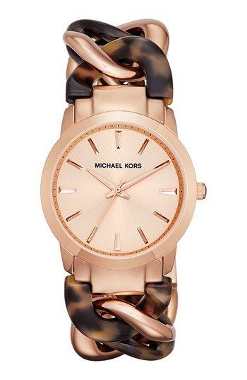Michael Kors 'Lady Nini' Chain Link Bracelet Watch