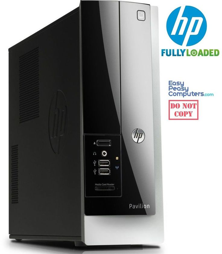 Computers for Sale - HP Desktop Computer Pavilion PC Windows 10 DVD+RW 4GB 500GB WiFi (FULLY LOADED) #HP