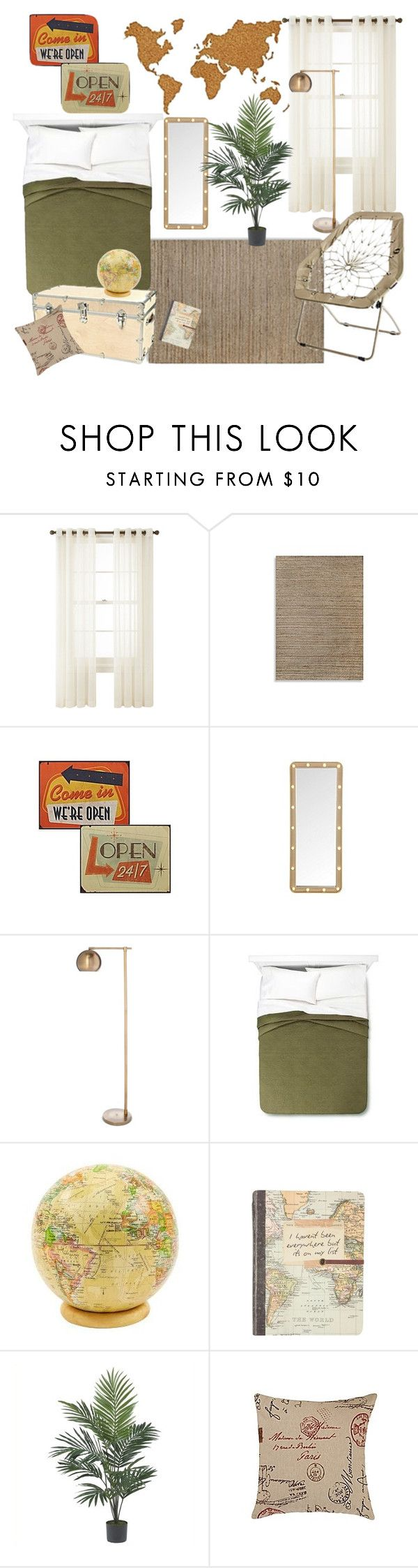 Threshold home decor shop for threshold home decor on polyvore -  Themed Dorm Travel By Bncollege On Polyvore Featuring Interior Interiors Interior