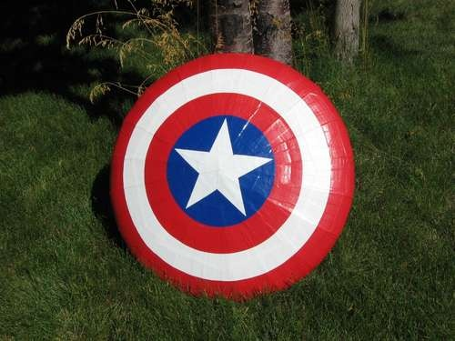 Make your own captain America shield! From cardboard and duct tape!