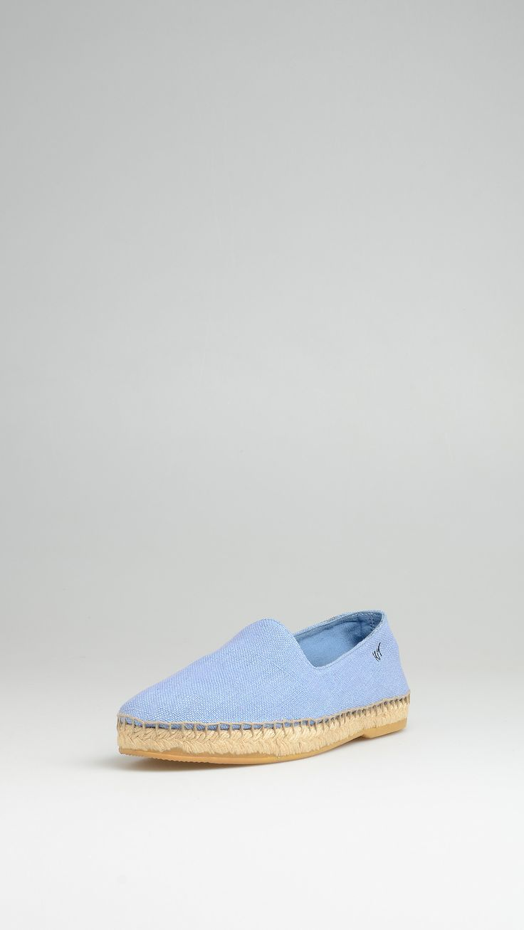 Which One Linen espadrillas, rope and rubber sole, engraved logo at side, leather lining, 0.97 inch - 2.5 cm platform.