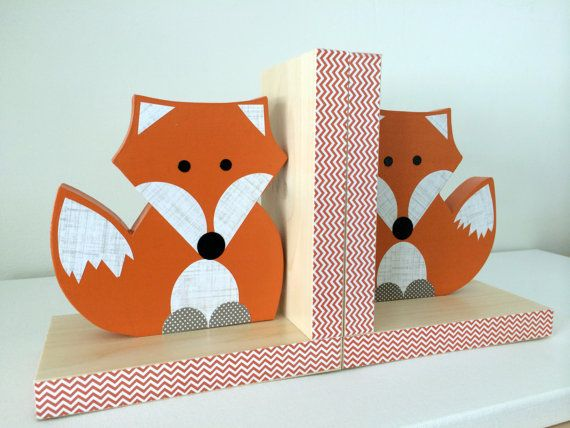 Fox Bookends eco friendly by MapleShadeKids on Etsy, $59.00