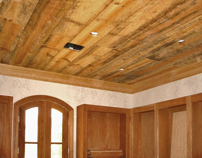 Rustic Wood Ceilings Are Often Made With Old Wood Timbers Beams And Joists And