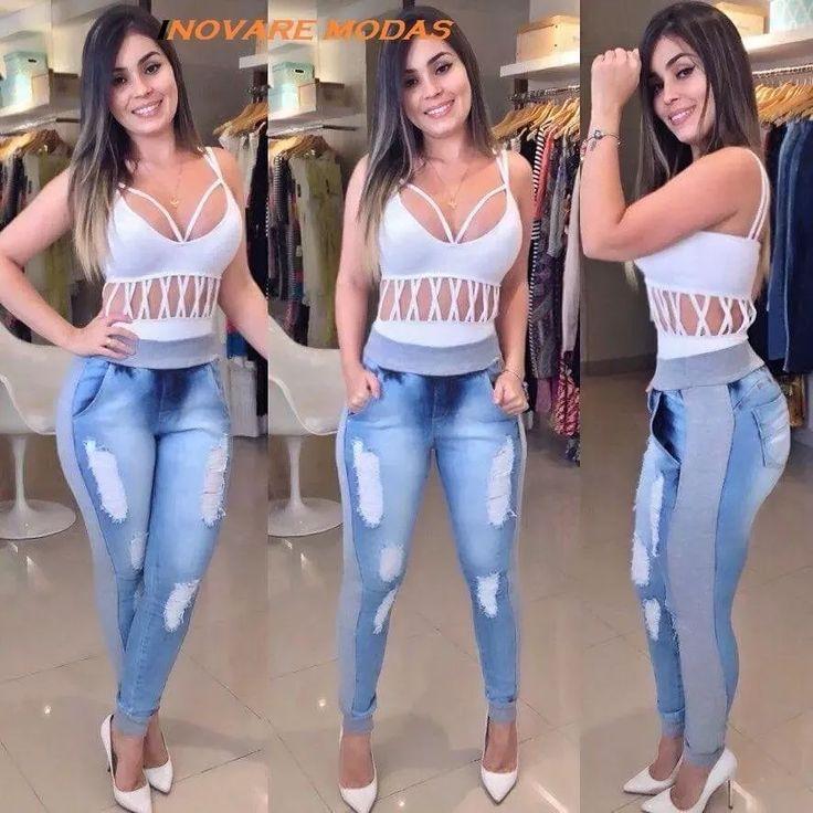 calça jeans feminina moleton ou ribana