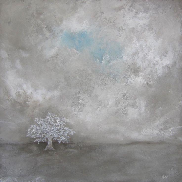 Au bout du verger par Hélène Fleury, artiste présentement exposée aux Galeries Beauchamp. www.galeriebeauchamp.com