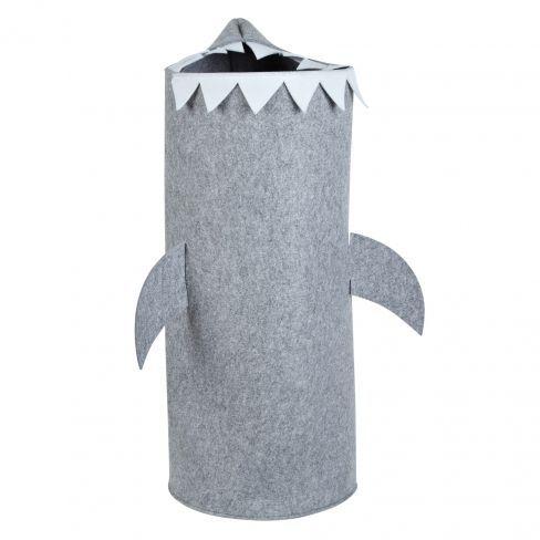 Little Home Felt Shark Laundry Bin