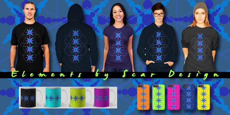 Elements  by Scar Design. Available as Pullover Hoodie, T-shirt, iPhone case, Women's T-shirt, Coffee Mugs and more.  #tshirt #pullover #hoodie #mensclothing #fashion #winter #cooltshirts #bytshirts 3geometric #geometrictshirts #geometrical #scifi #SciFi #scifitshirts #coffeemug #kidstshirt #poster #artprint #stickers #womensclothing #designbyhumans #scardesign