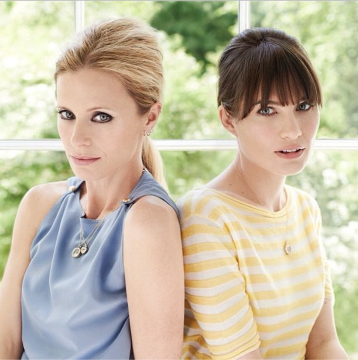 Laura Bailey and Sheherazade Goldsmith by Mary McCartney