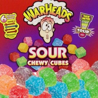 Sweet Factory Online Candy Store | America's Favorite Candy Store Extreme Mega WarHeads Sour Chewy Cubes 2.5 OZ Packs - 15 CT. Case Sweet Fa...