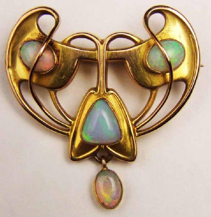 Art Nouveau - opal...