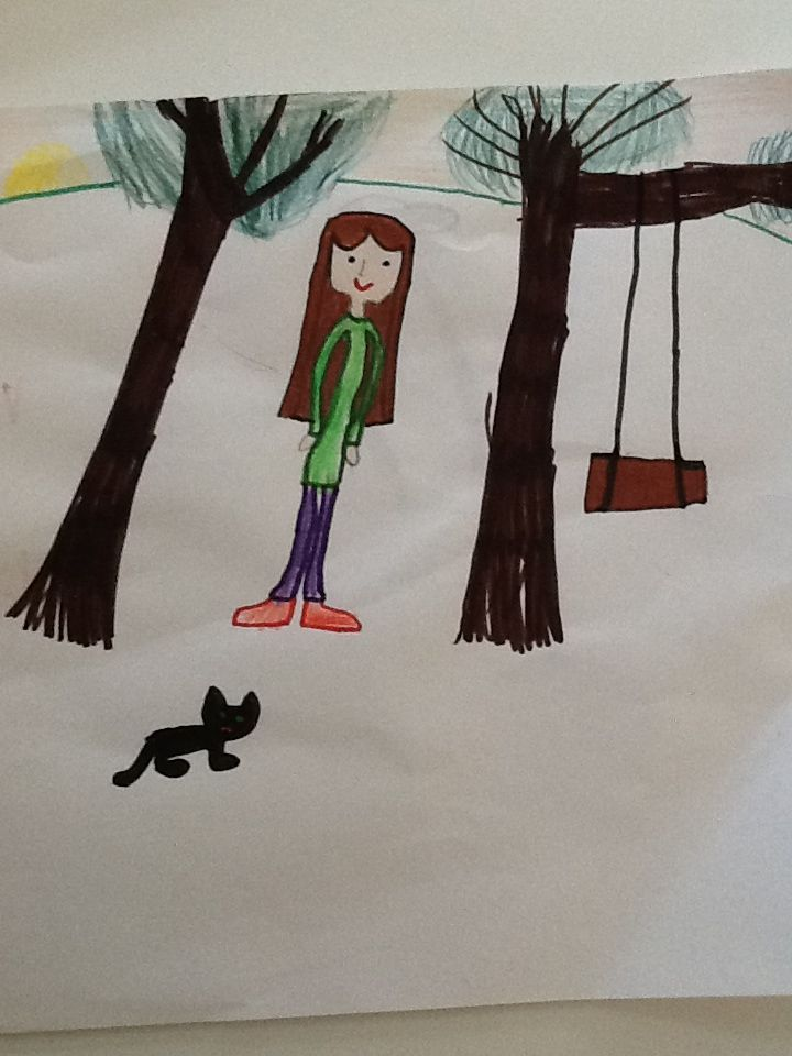 Girl and cat, 11/2013
