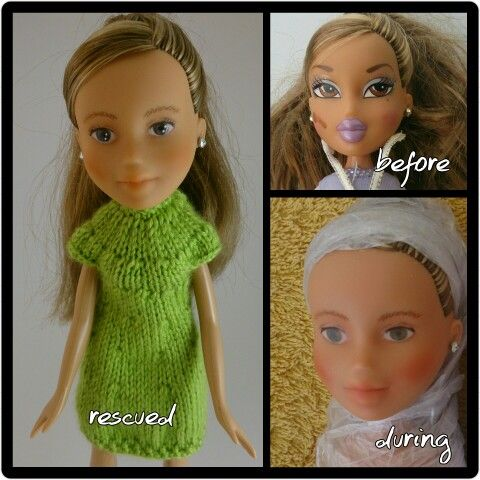Before,  during and rescued!  Another rescue by Kislany Rescue Dolls
