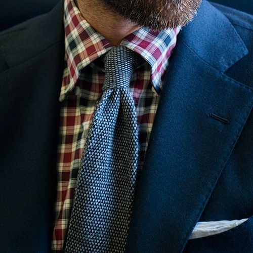 Vincent Red and Navy Plaid Tailor Made Shirt by Proper Cloth