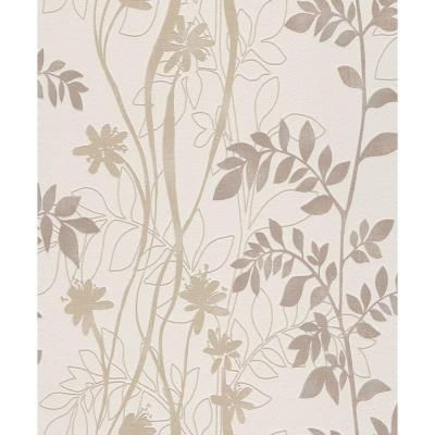 Washington Wallcoverings 56 sq. ft. Beige Contemporary Vine Wallpaper-705102 at The Home Depot