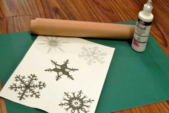 How to Make Snowflake Window Decals