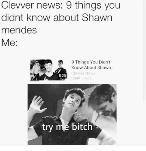Like seriously tho! #Mendesarmy Oh and then I already know them all!