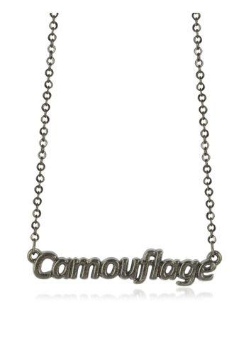 Patrizia Pepe Khaki 'Camouflage' Necklace