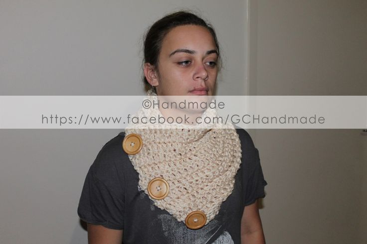 "Neck Cowl with 2"" Buttons"
