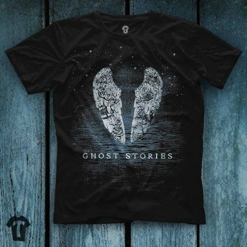 Coldplay Ghost Stories Unisex Black T Shirt Graphic Tee