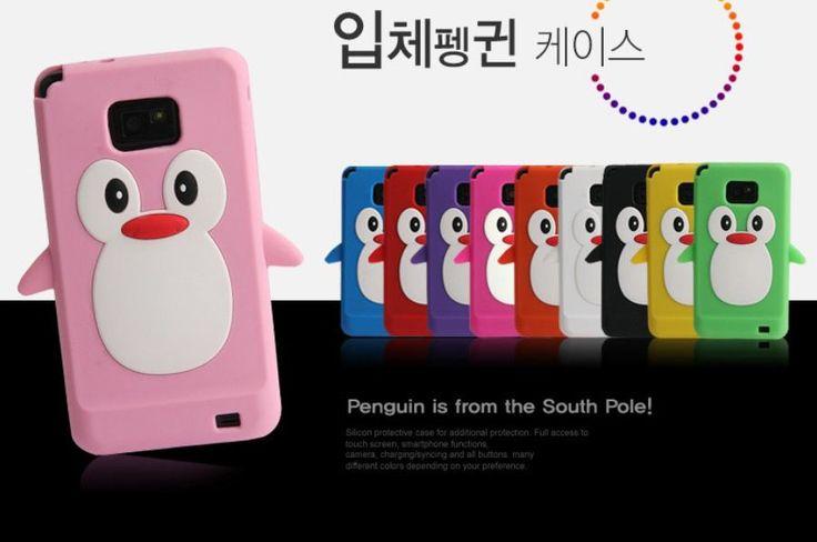 Galaxy Core Advance Cute Penguin Soft Silicon Case