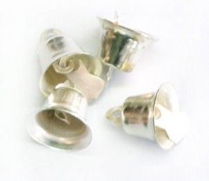 Silver Bells (11*13mm) for R15/250bell per pack    Paradise Creative Crafts cc