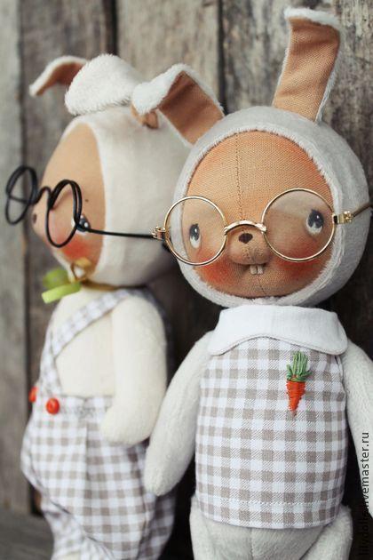 Игрушки животные, ручной работы. Ярмарка Мастеров - ручная работа Зайчишки. Handmade.