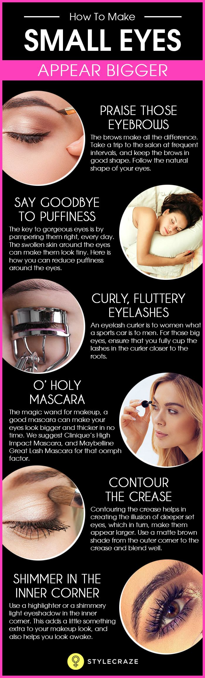 11 Makeup Tricks To Make Your Eyes Look Bigger(they Always Work!) Almond  Shaped