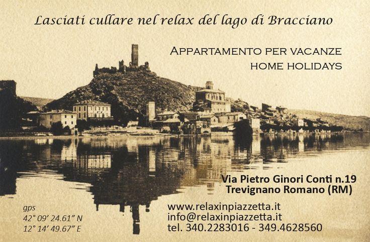 Relax in Piazzetta sul lago nei pressi della Via Francigena