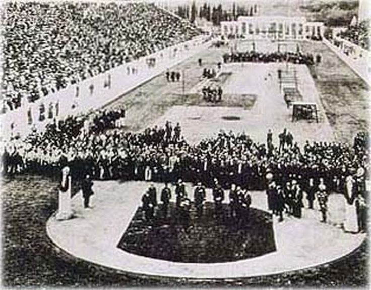••Olympic history: 1896 Olympic opening ceremony at Panathinaiko Stadium, Athens, Greece•• Wikipedia article • 1st IOC Games: 14 nations / 241 athletes / 43 events - in 2016 Rio USA alone has 560+ athletes!