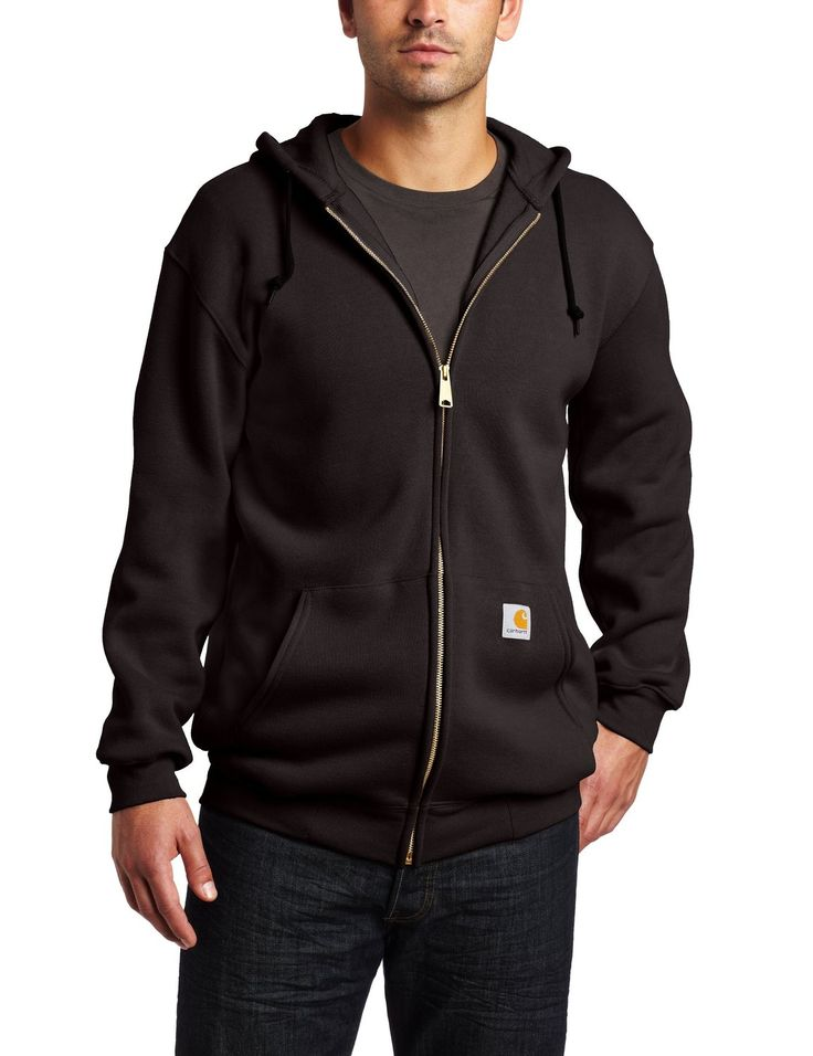 Carhartt Men's Midweight Zip Front Hooded Sweatshirt K122 ** Remarkable product available now. : Carhartt Boots