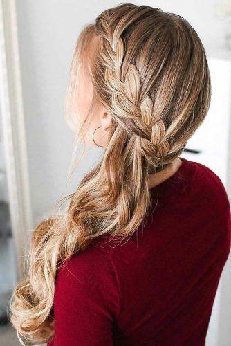 side braid hairstyle, braid hairstyles, elegant hairstyle, wedding hairstyles, prom hairstyles, easy side braid hairstyle #boxbraidshaircut