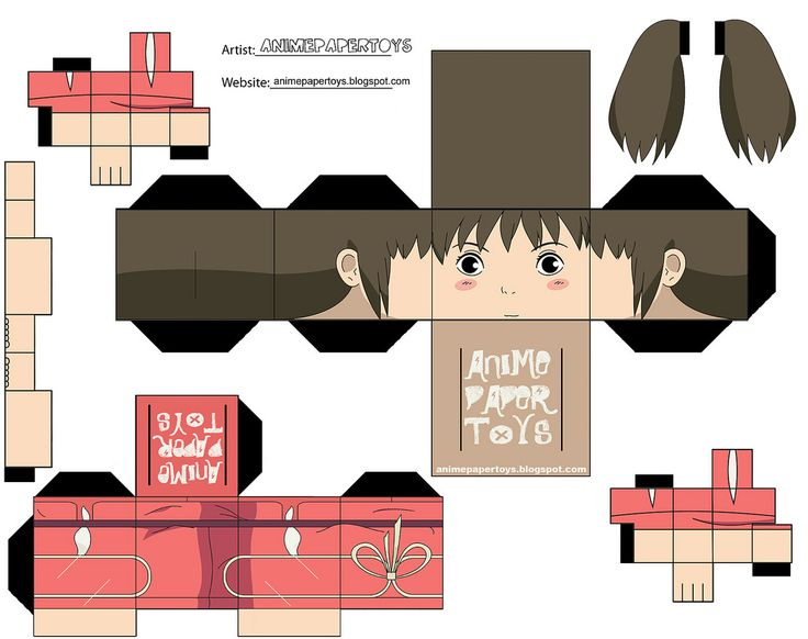 Chihiro paper toy