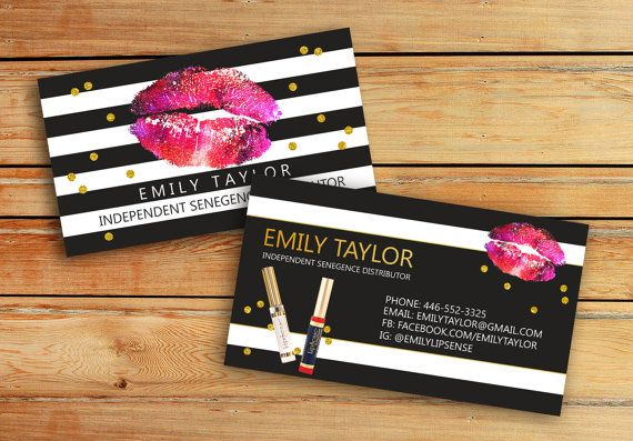 LipSense Business Cards SeneGence International by VickyDigital