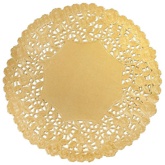 50  12 GOLD Metallic Foil PAPER Lace DOILIES  Charger