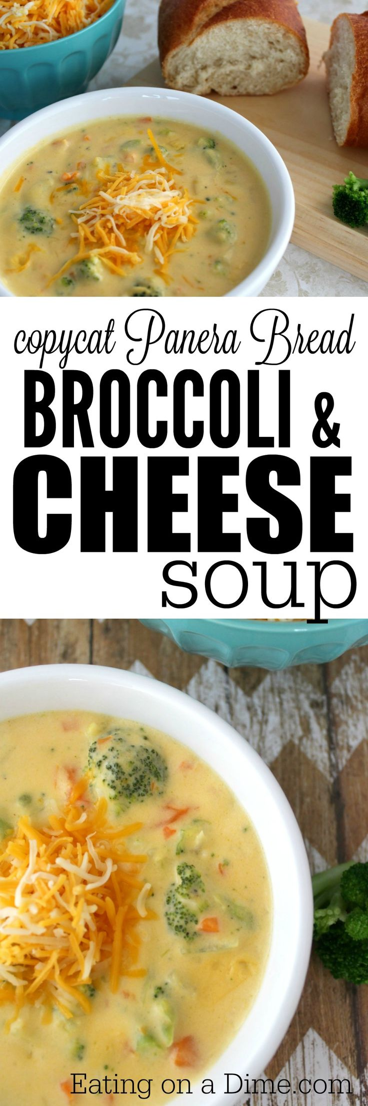 Easy CopyCat Panera recipe - Broccoli and Cheese Soup.  I am happy to report that I have a wonderful Panera Bread copycat recipe Broccoli Cheese Soup. Just like my Copycat Chicken noodle soup I think you are going to love this easy soup recipe.