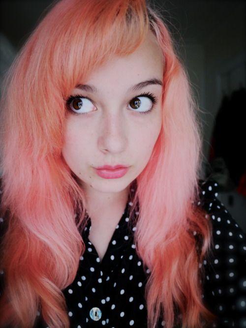 ... about Hair ideas - Peach on Pinterest | Peach hair, Peaches and Bobs Peach Hair Tumblr