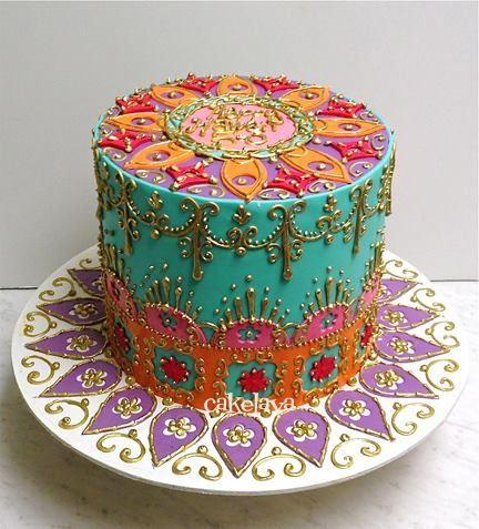 Moroccan Cake Celebration Cakes Cake Birthday Cake Cake Decorating