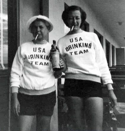 USA Drinking Team. Whose up for ordering these sweatshirts for halloween? perfect this year right after the olypics :)