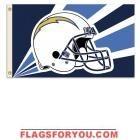 last 1 - SAN DIEGO CHARGERS HELMET DESIGN 3X5 FLAG