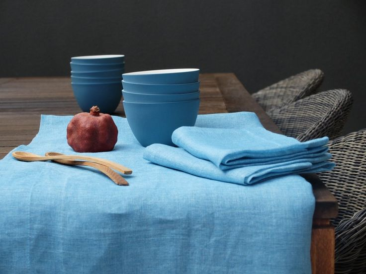 Cast Ceramics and Libeco Linen table linen Home Collection  and Adelaide Porcelain bowls