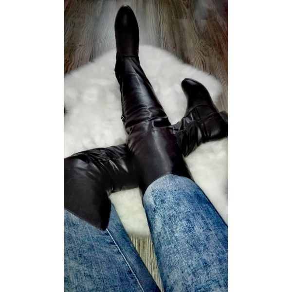 Čižmy nad kolená Black Matt