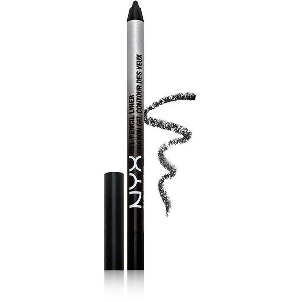 NYX NYX Tres Jolie Gel Pencil Liner - Pitch Black (16 CAD) ❤ liked on Polyvore featuring beauty products, makeup, eye makeup, eyeliner, gel eye liner, eye pencil makeup, kohl eye makeup and black eyeliner
