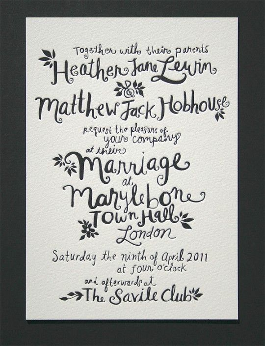 25+ best handwritten wedding invitations ideas on pinterest, Wedding invitations